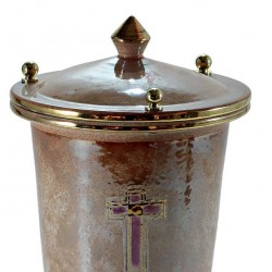 Iris Cinerary Urn with Gold and Cross 20x30 cm