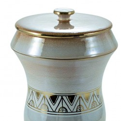 Iris Cinerary Urn with Gold and decoration 22x40 cm