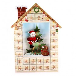 Wooden Advent Calendar with Drawers 35x48 cm