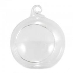 Sfera vuota aperta in vetro diametro 6 cm