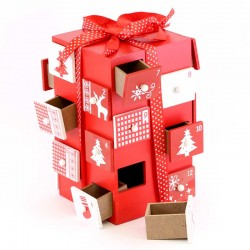 Wooden Advent Calendar with Compartments 13x21 cm