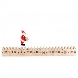 Calendario dell'Avvento legno con Babbo Natale 47 cm