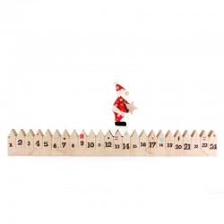Wooden Advent Calendar with Santa Claus 47 cm