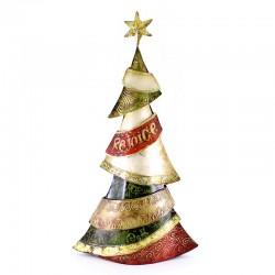Addobbo albero di Natale in metallo colorato 50 cm