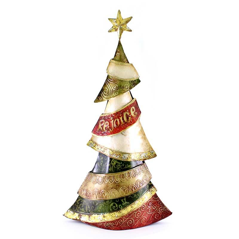 Addobbi Albero Natale.Addobbo Albero Di Natale In Metallo Colorato 50 Cm