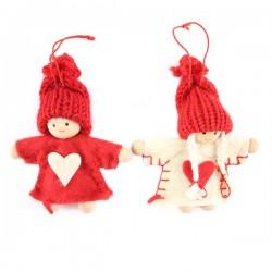 Addobbo Pupazzi natalizi 2 soggetti 8 cm