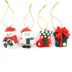 Addobbo Pupazzi natalizi 12 soggetti 5 cm
