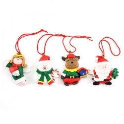 Addobbo Pupazzi natalizi 12 soggetti 4 cm