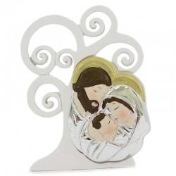 Quadretto Sacra Famiglia in resina da poggiare 10 cm