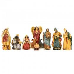 Natività in resina colorata 12 cm 10 pezzi