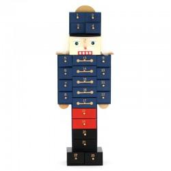 Calendario dell'Avvento soldatino in Legno 16x47 cm