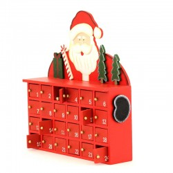 Wood Advent Calendar with Santa Claus 24x27 cm