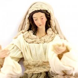 Nativity Ivory & Red Fabric 31 cm
