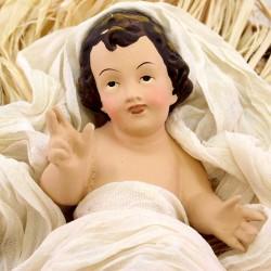 Terracotta Nativity Green & Beige Fabric 80 cm