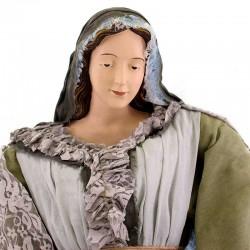 Resin Nativity Green & Gray Fabric 120 cm