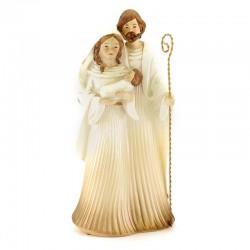 Sacra Famiglia in porcellana bianca 24 cm