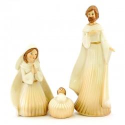 Colored Porcelain Nativity 8 items 25 cm