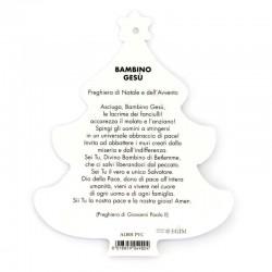 PVC Christmas Tree with Nativity and Prayer 9.5x11.5 cm