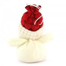 Snowman hanger in Lenci cloth 13 cm