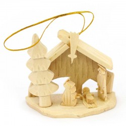 Wooden Hut hanger 7x6 cm