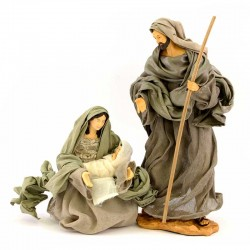 Nativity in colored resin with dress 35 cm