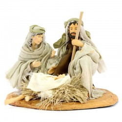 Set Nativity in resin with clothes 25 cm