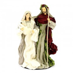 Set Standing Nativity in resin with clothes 35 cm