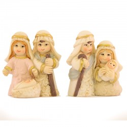 Nativity group in colored resin 4.5 cm