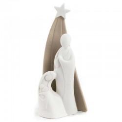 Natività stilizzata con Capanna in porcellana 22 cm