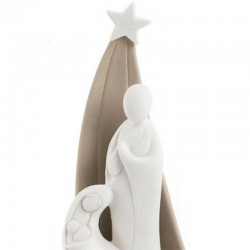 Stylized Nativity with hut in porcelain 22 cm