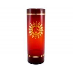 Bicchiere per Santissimo vetro rosso 22 cm