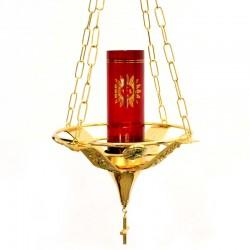 Lampada a sospensione per Santissimo ottone dorato 100 cm