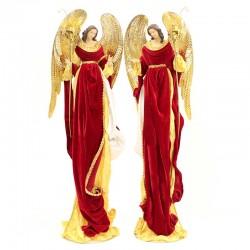 Coppia Angeli portacandela 110 cm