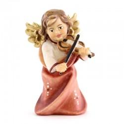 Angelo con Violino in legno colorato 6 cm