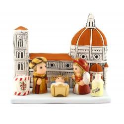 Presepe di Firenze in terracotta 8x9,5 cm