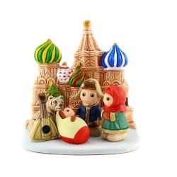 Presepe della Russia in terracotta 8x8 cm