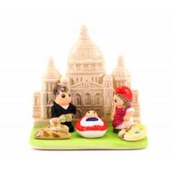 Presepe Parigi Sacro Cuore in terracotta 8x8 cm