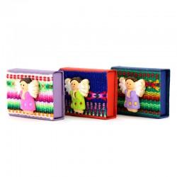 Terracotta Magnetic Matchbox Indian Nativity 5.5x4 cm