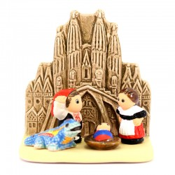 Presepe Barcellona in terracotta 8x8,5 cm