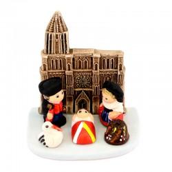Terracotta Nativity Strasbourg 8x9 cm