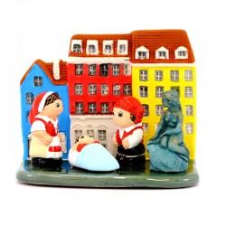Presepe Copenhagen in terracotta 8,5x7 cm