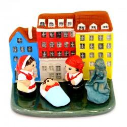 Terracotta Nativity Copenhagen 8.5x7 cm