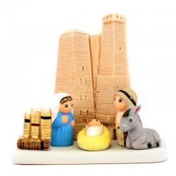 Presepe Bologna in terracotta 9x8,5 cm
