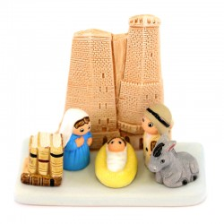 Terracotta Nativity Bologna 9x8.5 cm