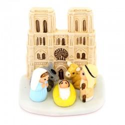 Terracotta Nativity Paris Notre Dame 8x8 cm