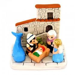Terracotta Nativity Tuscany 8.5x8 cm
