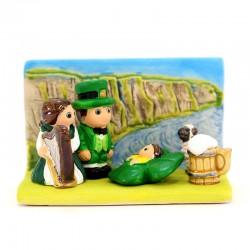 Presepe Irlanda in terracotta 8,5x5,5 cm