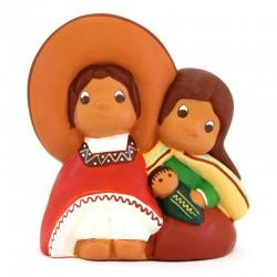 Terracotta Mexican Nativity 5.5x6 cm
