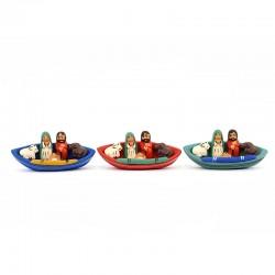 Presepe piccola barca in terracotta 7,5x3,5 cm