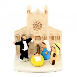 Modena Nativity scene in terracotta 8x9 cm